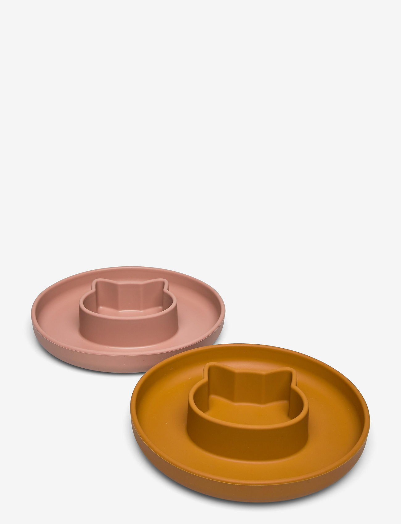 Liewood - Gordon plate 2-pack - assiettes et bols - cat dark rose/mustard mix - 0