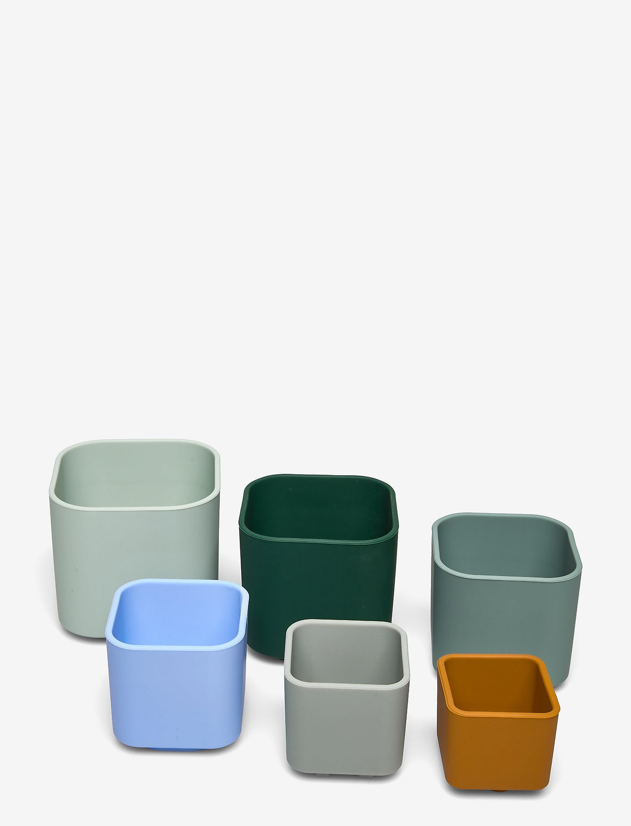 Liewood - Zuzu stacking cups - tasses et mugs - dove blue multi mix - 0