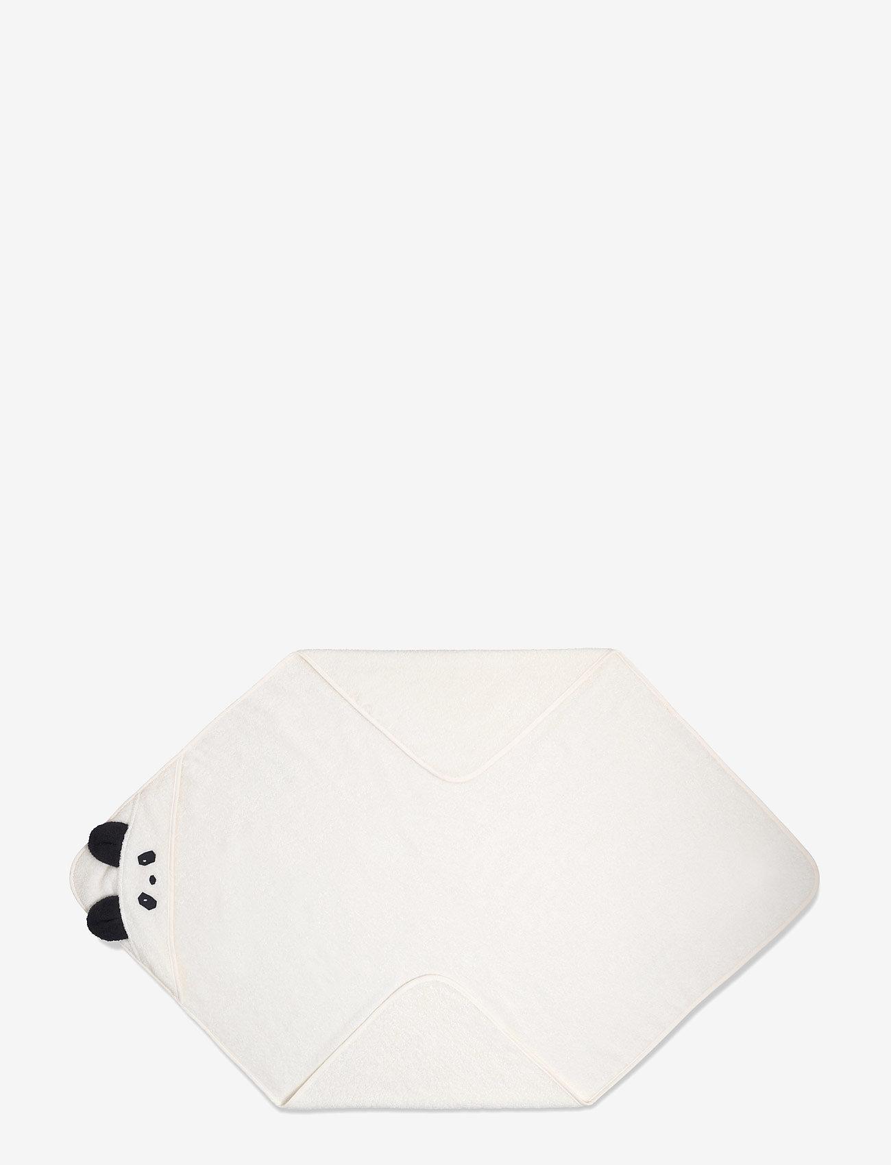 Liewood - Augusta hooded towel - akcesoria - panda creme de la creme - 0