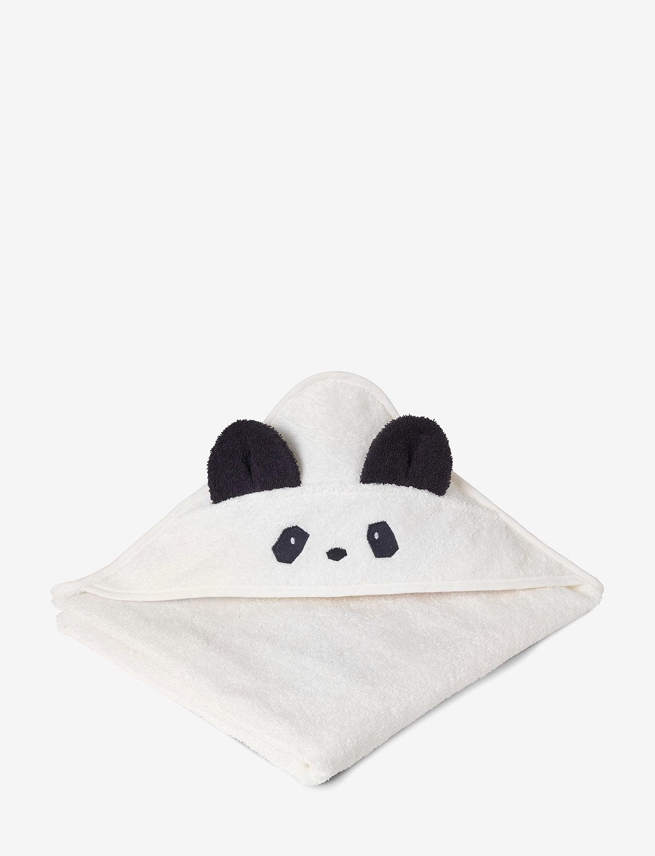 Liewood - Augusta hooded towel - akcesoria - panda creme de la creme - 1