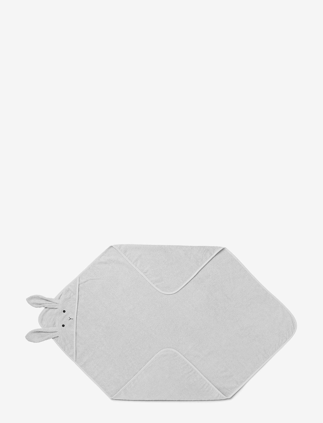 Liewood - Augusta hooded towel - akcesoria - rabbit dumbo grey - 0