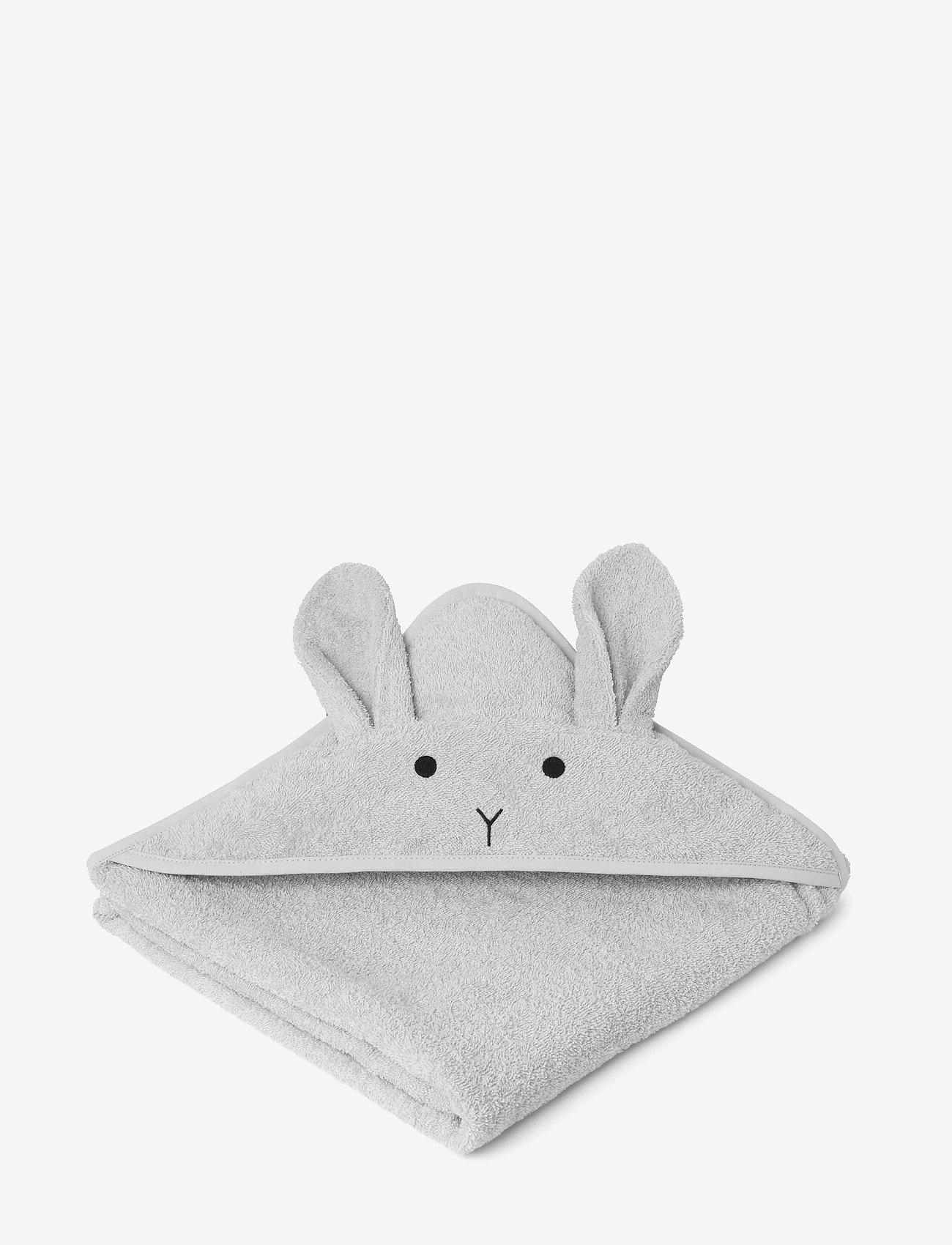 Liewood - Augusta hooded towel - akcesoria - rabbit dumbo grey - 1