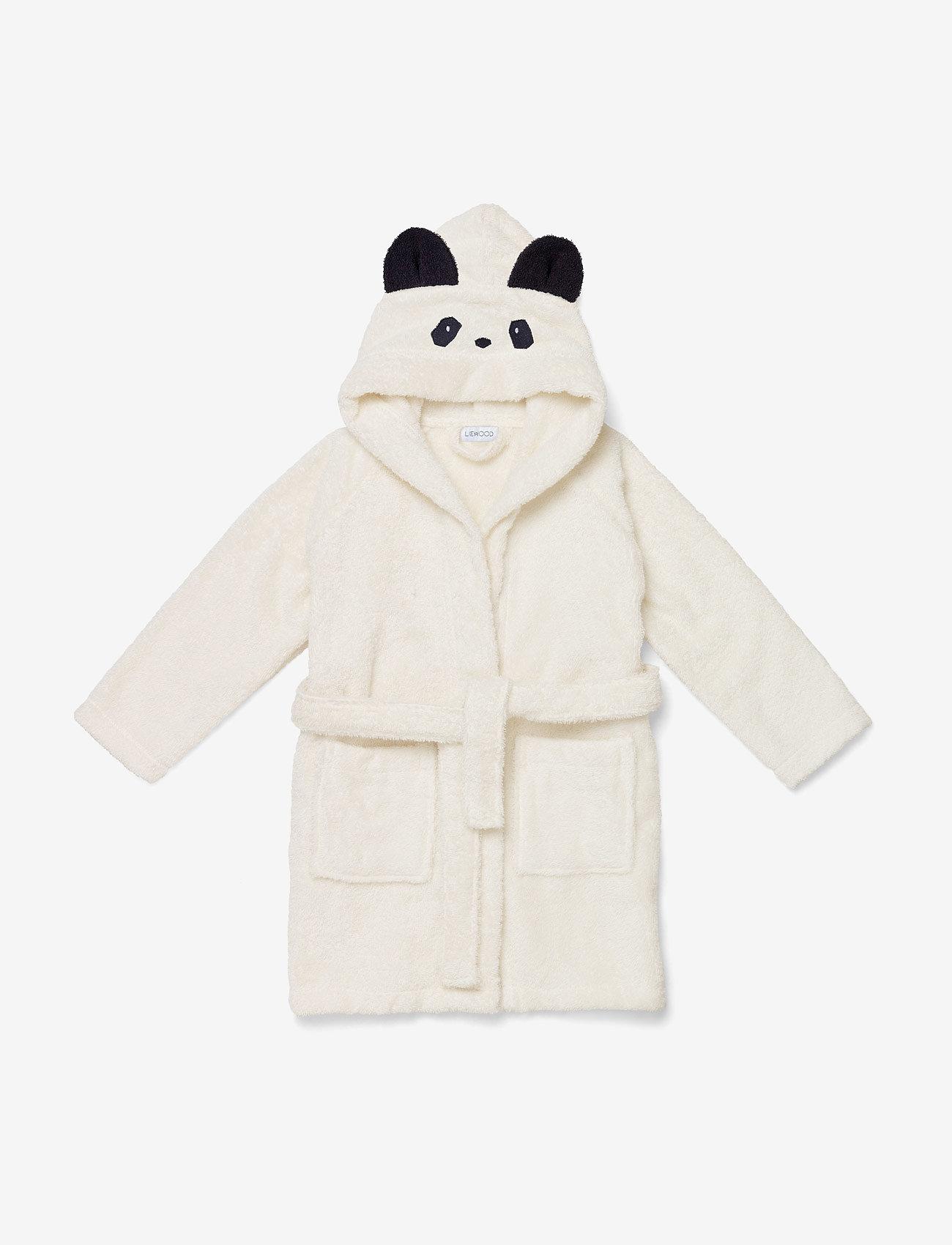 Liewood - Lily bathrobe - kąpiel - panda creme de la creme - 0