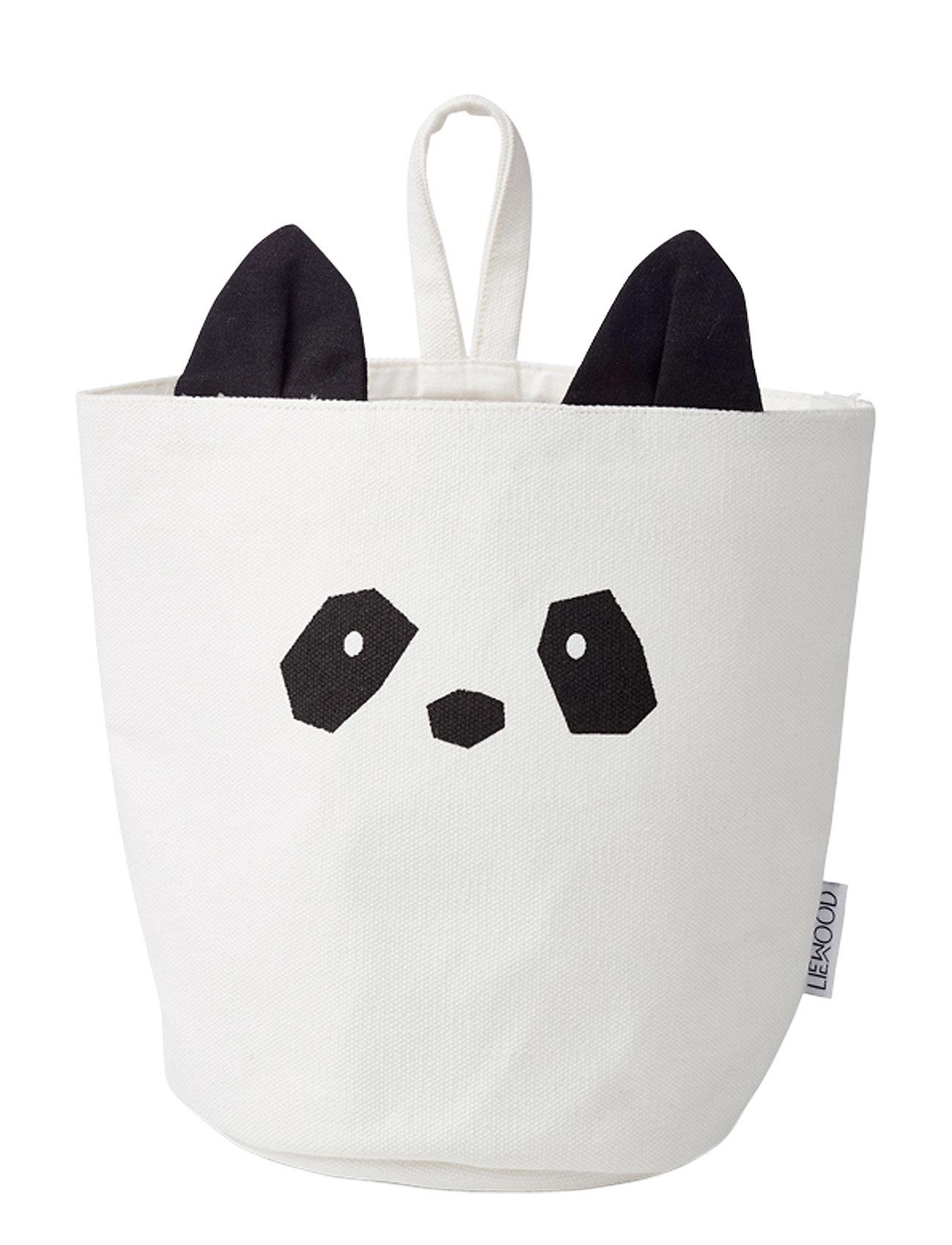 Liewood Ib fabric basket - PANDA CREME DE LA CREME