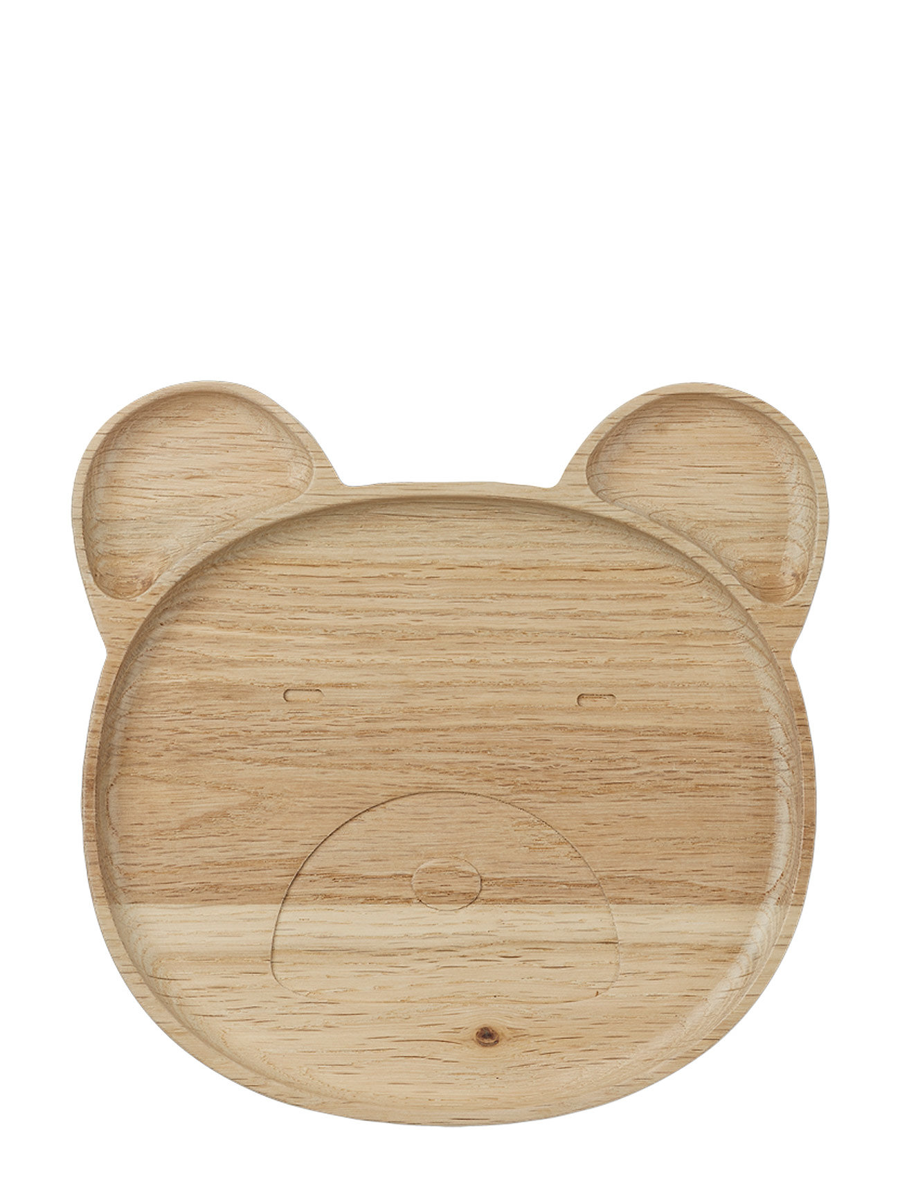 Liewood Conrad wood plate - MR BEAR NATURAL