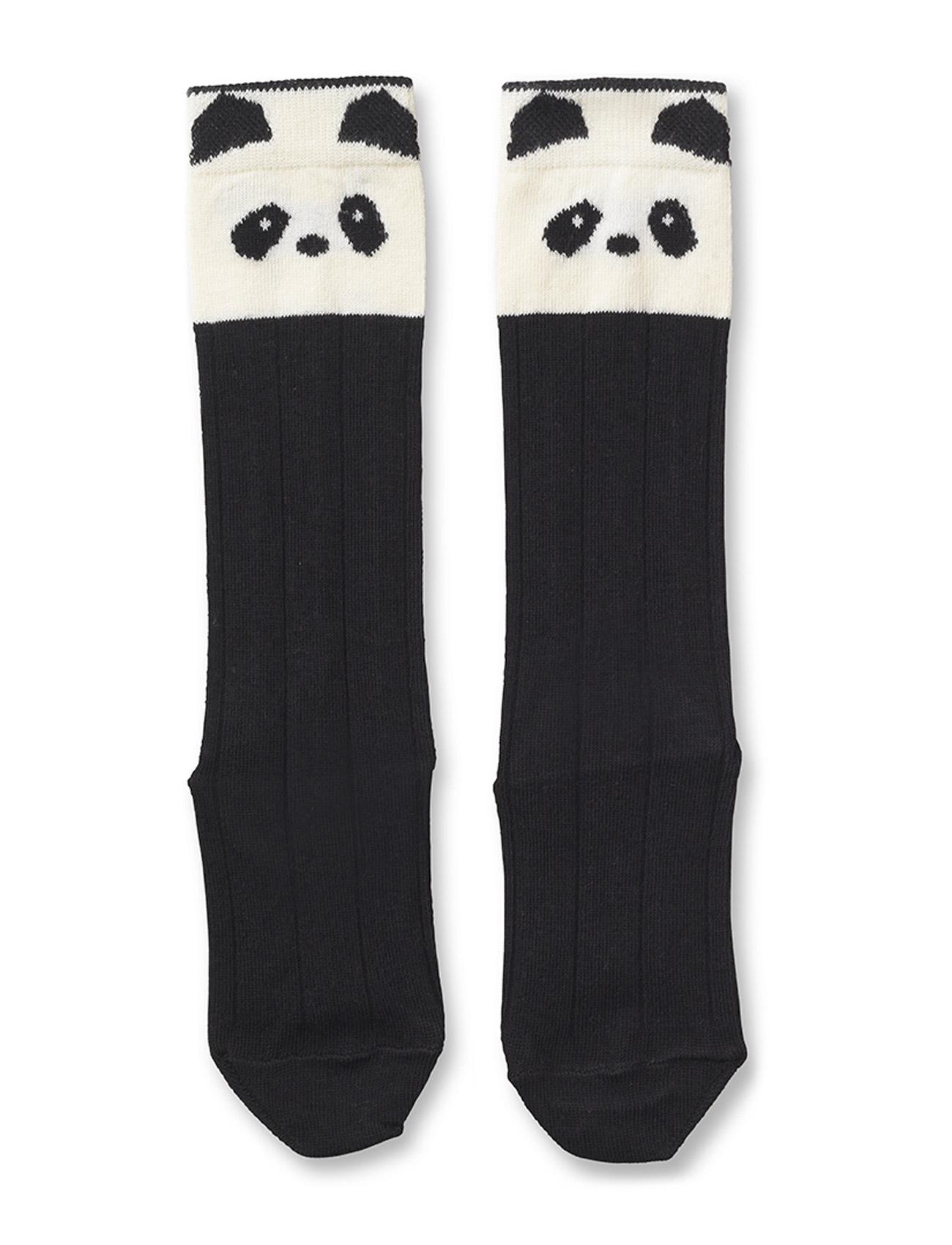 Liewood Sofia cotton knee socks - PANDA CREME DE LA CREME