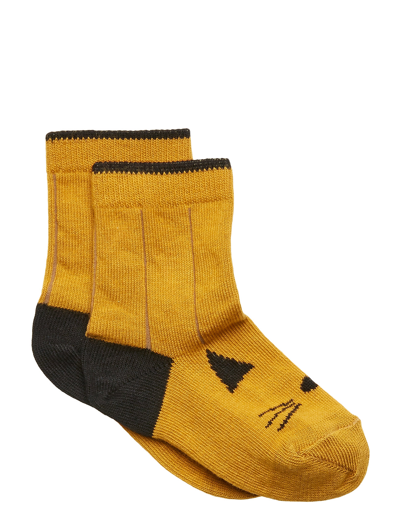 Liewood Silas cotton socks - CAT MUSTARD