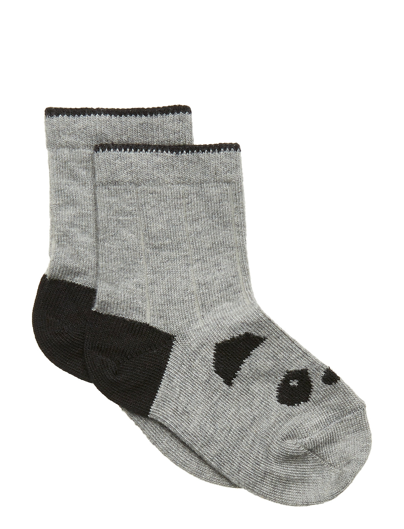Liewood Silas cotton socks - PANDA GREY MELANGE