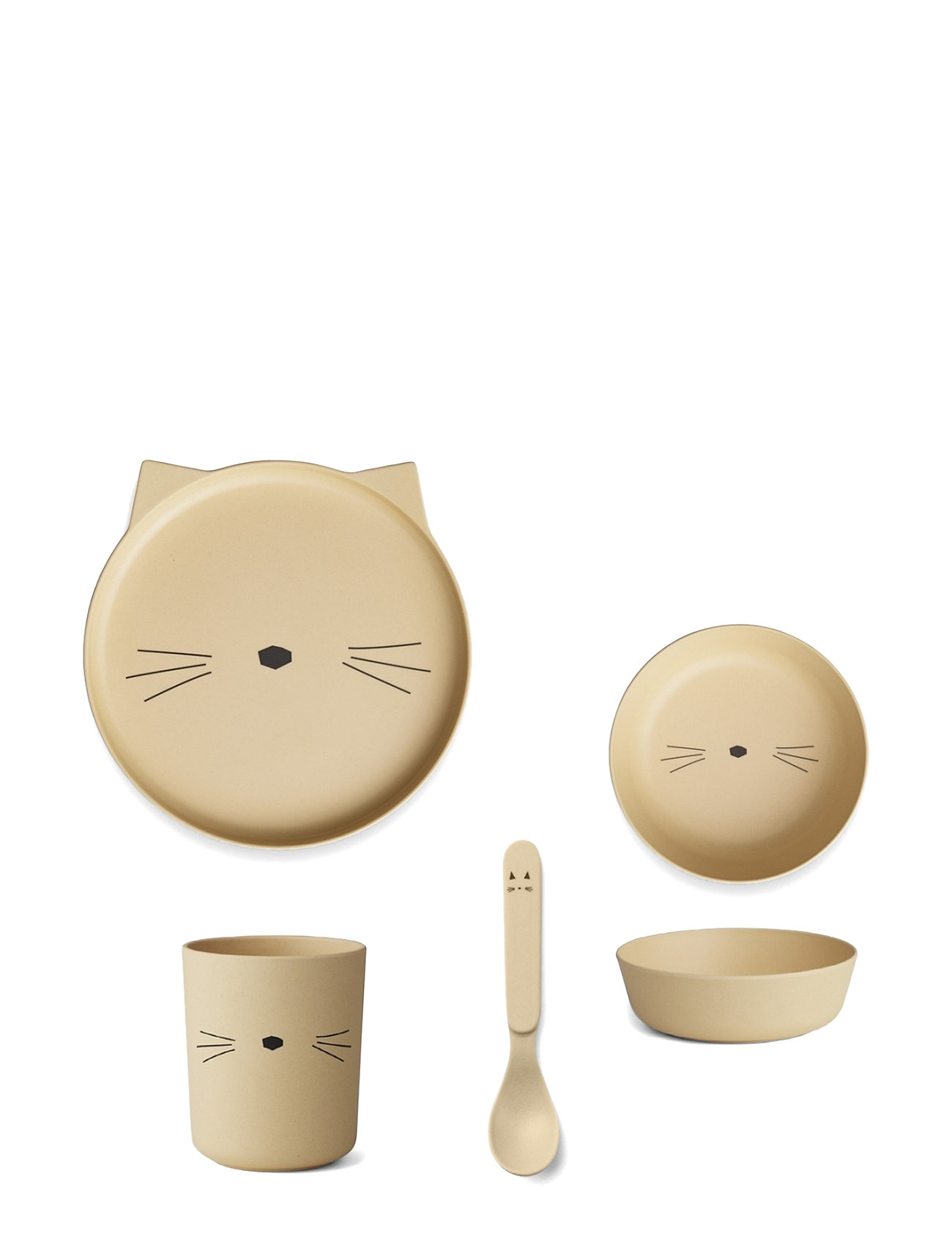 Liewood Bamboo Box Set Home Meal Time Beige Liewood