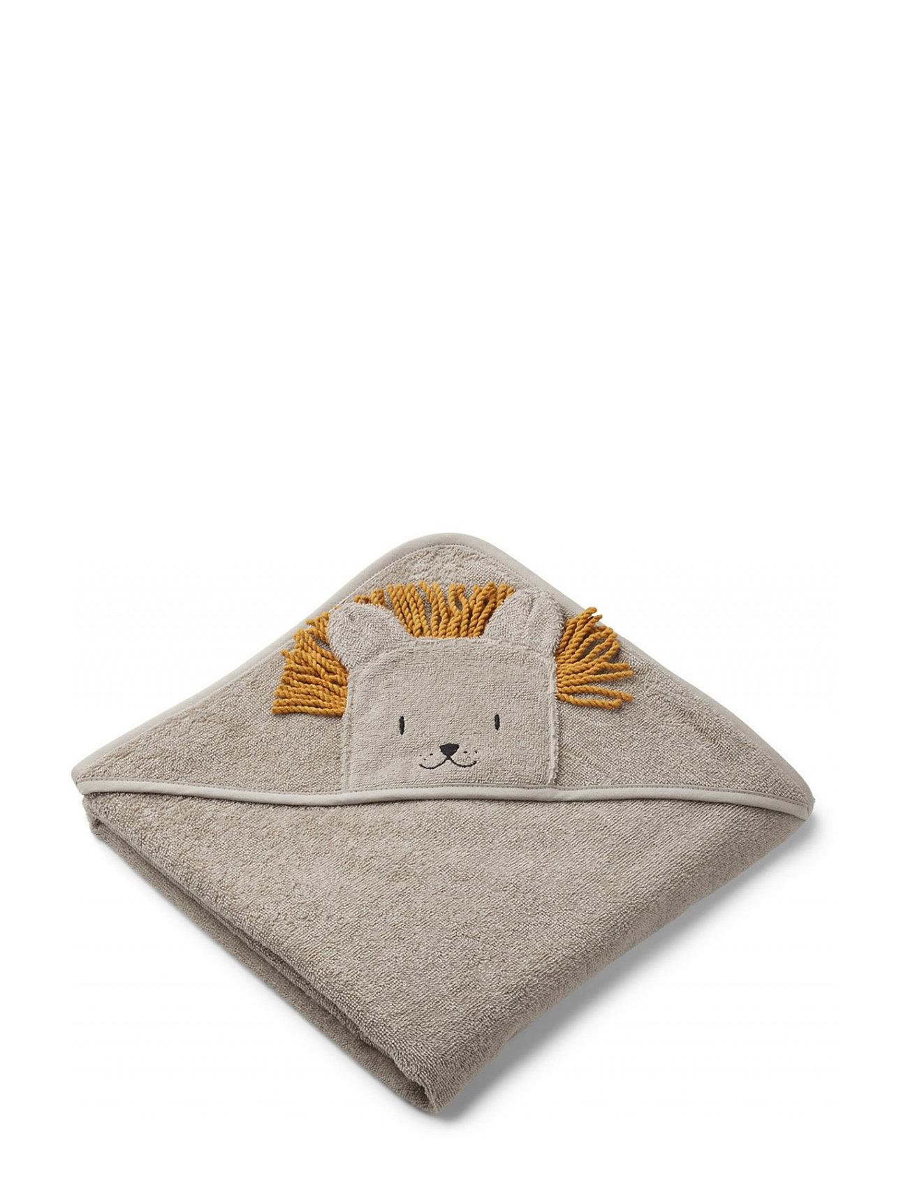 Liewood Augusta hooded towel - LION STONE BEIGE
