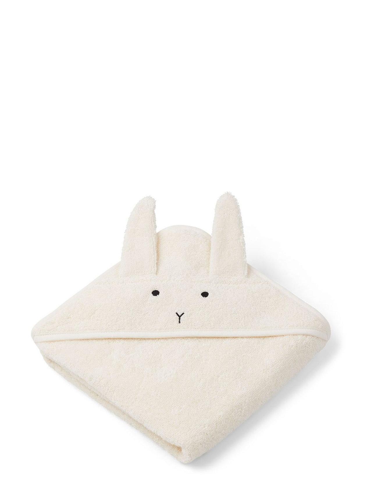 Liewood Albert Hooded Towel - RABBIT CREME DE LA CREME