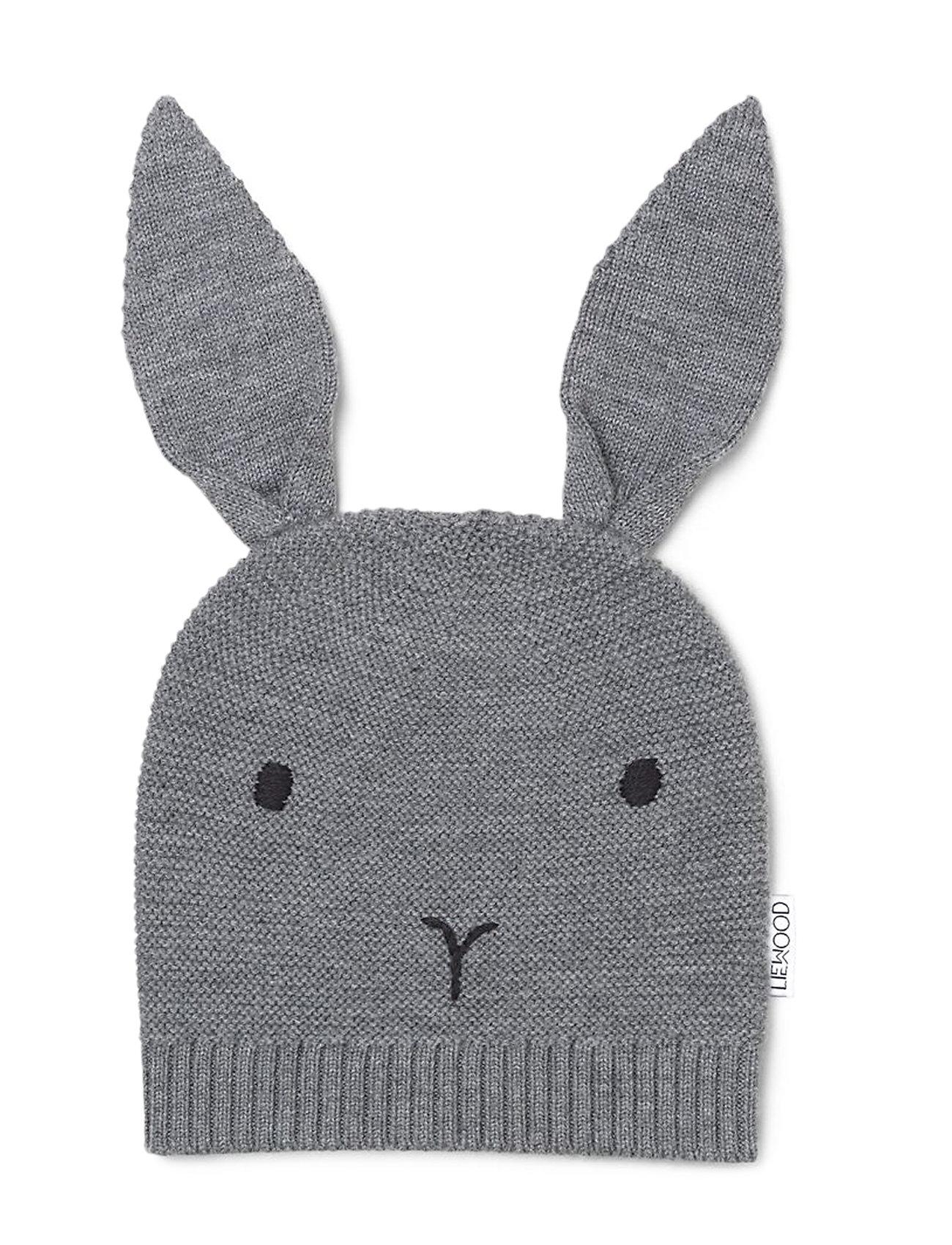 Liewood Viggo knit hat - RABBIT GREY MELANGE