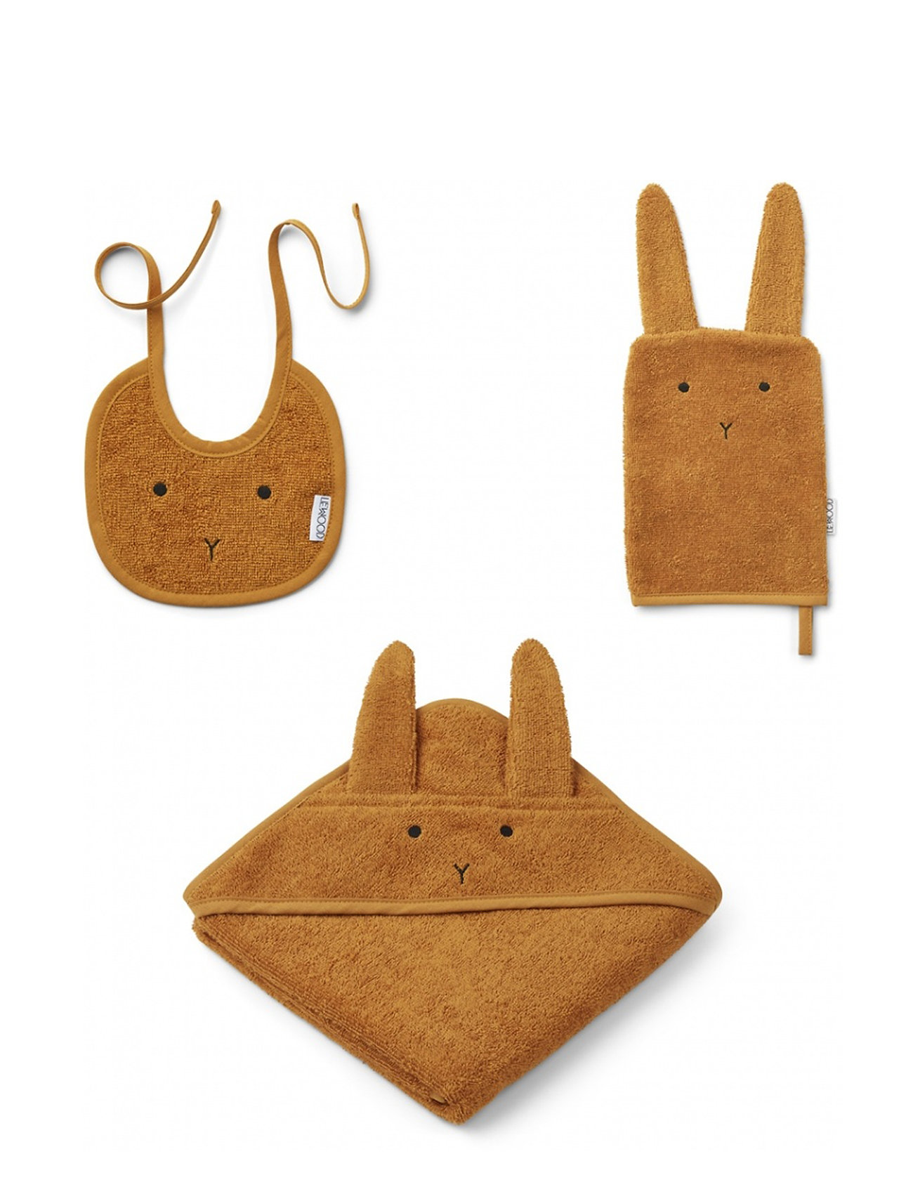 Liewood Adele terry baby package - RABBIT MUSTARD