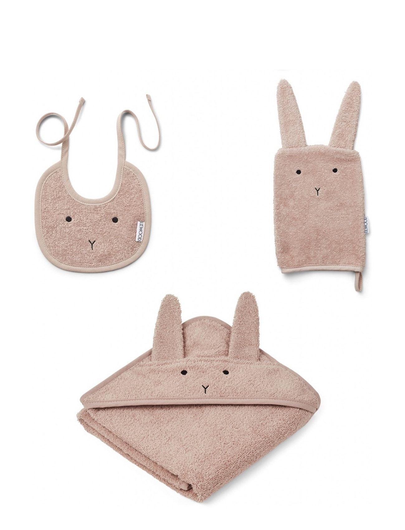 Liewood Adele terry baby package - RABBIT ROSE