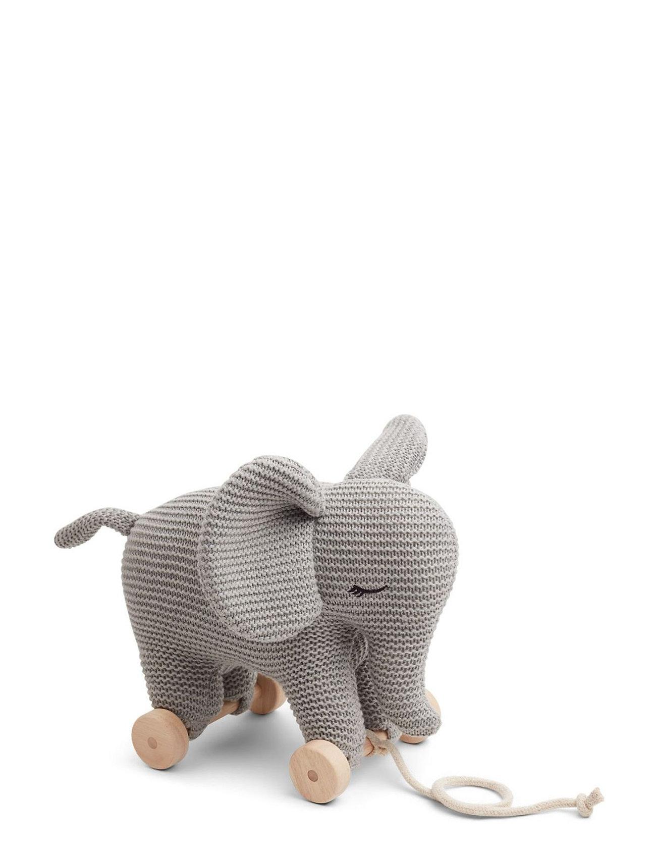 Liewood Dahlia teddy on wheels - ELEPHANT GREY MELANGE