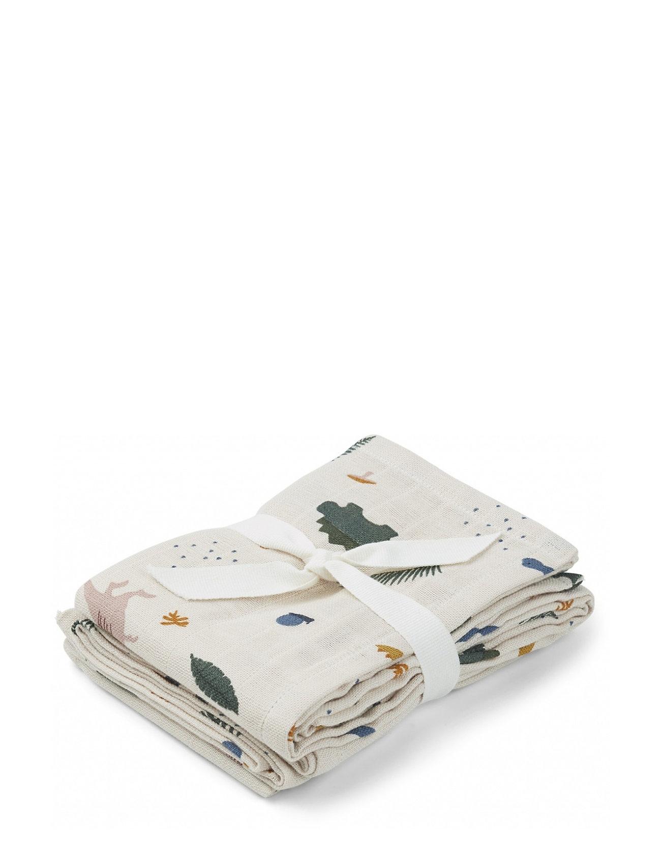 Liewood Hannah muslin cloth print 2 pack - DINO MIX