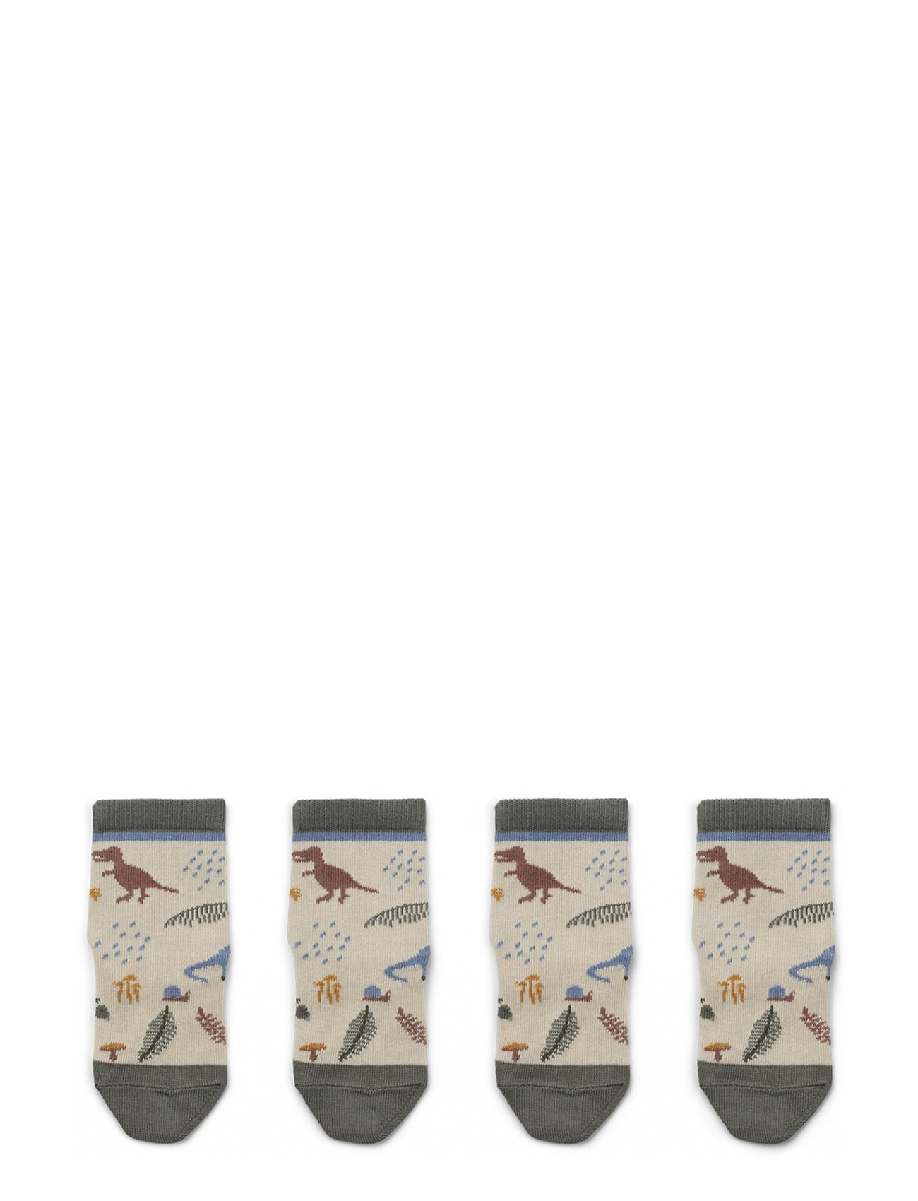 Liewood Silas cotton socks - 2 pack - DINO MIX