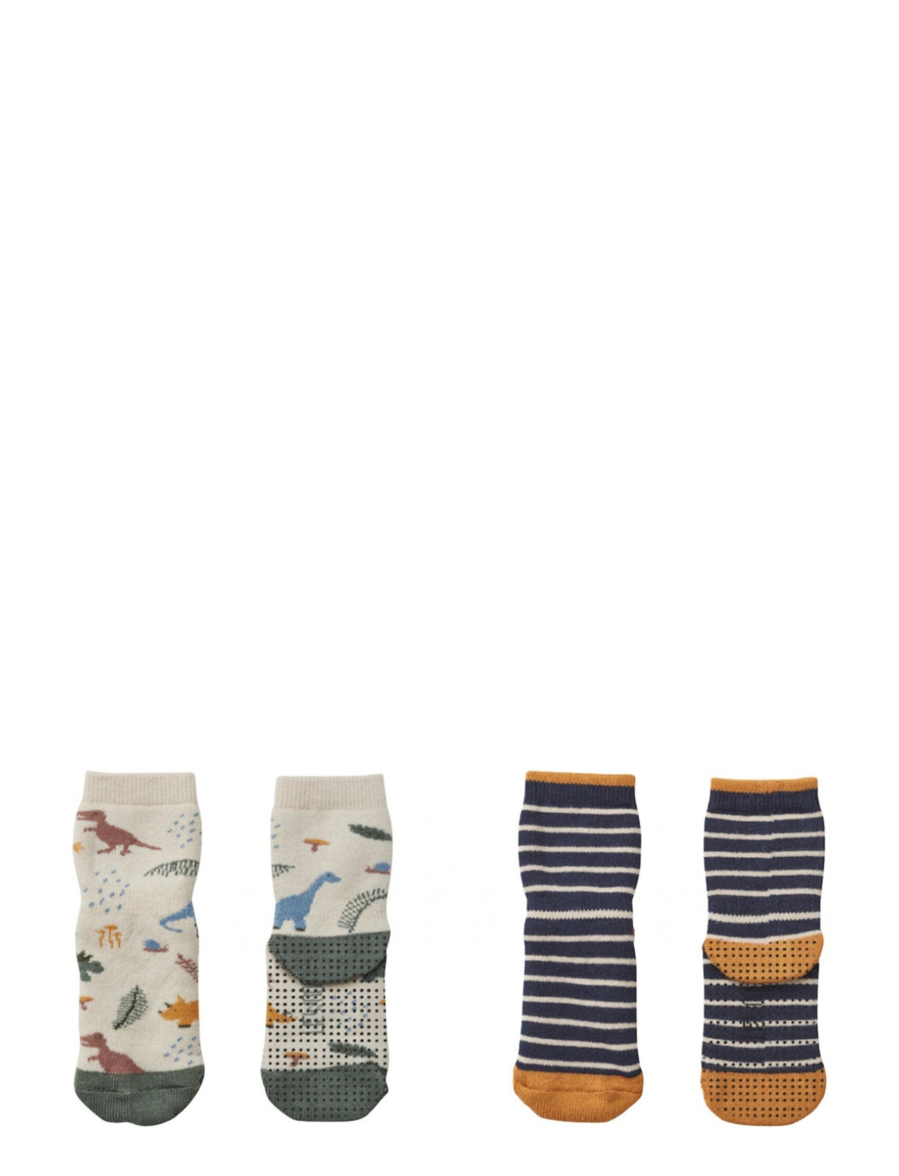Liewood Nellie anti slip socks 2-pack - DINO MIX
