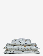 Liewood - Ingeborg junior bedding print - beddings - dino dove blue mix - 0