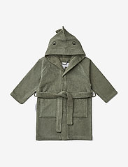 Liewood - Lily bathrobe - bathrobes - dino faune green - 0