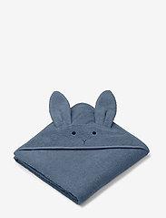 Liewood - Augusta hooded towel - ręczniki i szmatki - rabbit blue wave - 0
