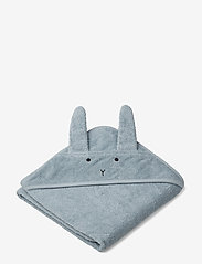 Liewood - Albert hooded towel - akcesoria - rabbit sea blue - 0