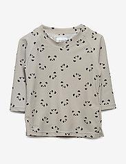 Liewood - Noah swim tee - koszulki - panda dumbo grey - 1