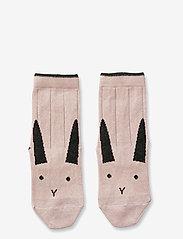 Liewood - Silas cotton socks - 2 pack - skarpetki - rabbit rose - 0