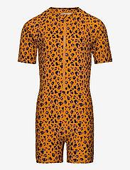 Liewood - Max Swim jumpsuit - jednoczęściowe - mini leo/mustard - 0
