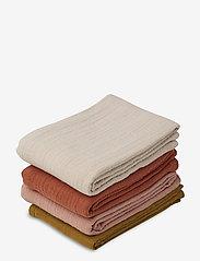Liewood - Leon muslin cloth - 4 pack - pieluszki materiałowe - rose multi mix - 0