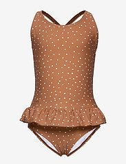 Liewood - Amara swimsuit - swimsuits - confetti terracotta - 0