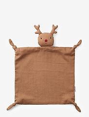 Liewood - Agnete cuddle cloth - zabawki dla dzieci - reindeer tuscany rose - 0