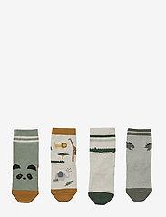 Liewood - Silas cotton socks - 4 pack - skarpetki - safari sandy mix - 0