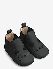 Liewood - Edith leather slippers - hausschuhe - cat black - 0
