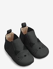 Liewood - Edith leather slippers - domowe - cat black - 0