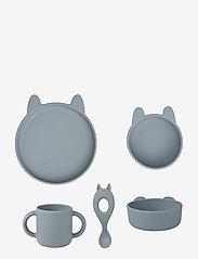 Liewood - Vivi silicone set - zestawy obiadowe - rabbit sea blue - 0