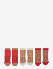 Silas cotton socks - 3 pack - APPLE RED MULTI MIX