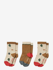 Silas cotton socks - 3 pack - GEOMETRIC FOGGY MIX