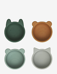 Liewood - Malene silicone bowl - 4 pack - talerze i miski - green multi mix - 0