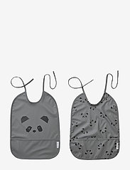 Liewood - Lai bib print - 2 pack - Śliniaczek - panda stone grey - 0