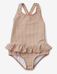 Liewood - Amara swimsuit seersucker - swimsuits - y/d stripe - 0