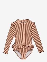 Liewood - Sille swim jumpsuit seersucker - swimsuits - y/d stripe - 0