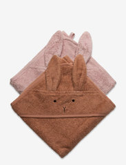 Albert hooded towel 2-pack - RABBIT TUSCANY ROSE MIX