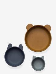 Eddie bowls 3-pack - GOLDEN CARAMEL/BLUE MULTI MIX