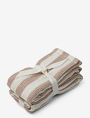 Liewood - Leah muslin cloth 2-pack - muslins - y/d stripe - 0