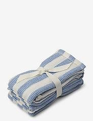 Leah muslin cloth 2-pack - Y/D STRIPE