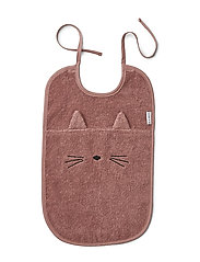 Theo terry bib - CAT DARK ROSE