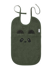 Theo terry  bib - PANDA HUNTER GREEN