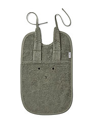 Theo terry bib - RABBIT FAUNE GREEN