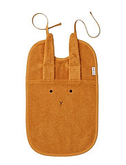 Theo terry  bib - RABBIT MUSTARD
